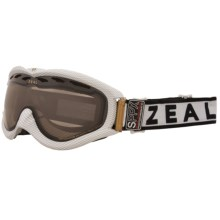 Zeal Detonator SPPX Snowsport Goggles - Polarized, Photochromic Lens in Carbon Matte White - Closeouts