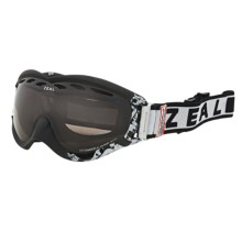 Zeal Detonator SPX Snowsport Goggles - Polarized in Satin Black/Zb Rose Brown - Closeouts