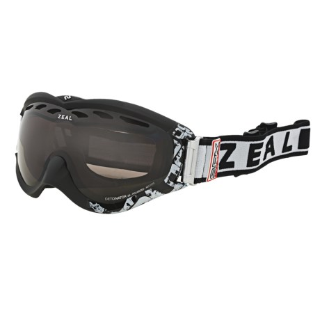 Zeal Detonator SPX Snowsport Goggles - Polarized in Satin Black/Zb Rose Brown