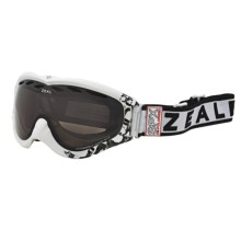Zeal Detonator SPX Snowsport Goggles - Polarized in Satin White/Zb Rose Brown - Closeouts