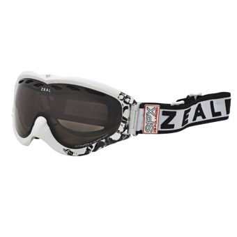 Zeal Detonator SPX Snowsport Goggles - Polarized in Satin White/Zb Rose Brown