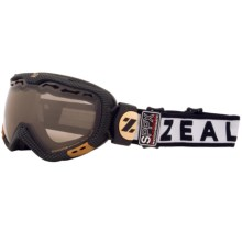 Zeal Dominator Classic Snowsport Goggles - Polarized, Photchromic Lens in Carbon Matte Black - Closeouts