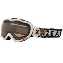 Zeal Dominator Classic Snowsport Goggles - Polarized, Photchromic Lens in Carbon Matte White - Closeouts