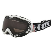 Zeal Dominator SPX Snowsport Goggles - Polarized in Satin White/Zb Rose Brown - Closeouts