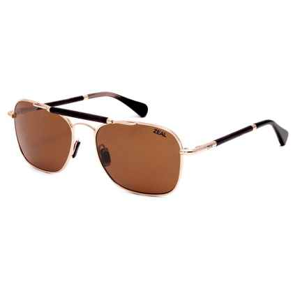 Zeal Draper Sunglasses - Polarized Ellume Lenses in Polished Gold/Copper - Closeouts