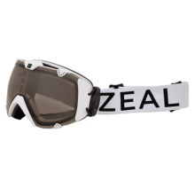 Zeal Eclipse Ski Goggles - Polarized in White Out/Automatic - Closeouts
