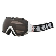 Zeal Eclipse SPX Snowsport Goggles - Polarized in Satin White/Zb Rose Brown - Closeouts
