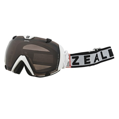 Zeal Eclipse SPX Snowsport Goggles - Polarized in Satin White/Zb Rose Brown