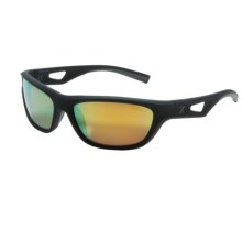 Zeal Emerge Sunglasses - Polarized Mirrored Lenses in Black/Gold Mirror - Closeouts