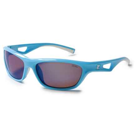 Zeal Emerge Sunglasses - Polarized Mirrored Lenses in Powder Coat Blue/Gold Mirror - Closeouts