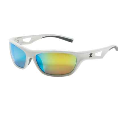Zeal Emerge Sunglasses - Polarized Mirrored Lenses in White/Gold Mirror - Closeouts