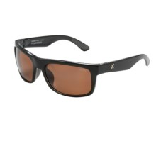 Zeal Essential Sunglasses - Polarized in Black Gloss/Copper - Closeouts