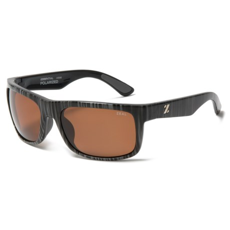 Zeal Essential Sunglasses - Polarized in Black Stripe/Copper