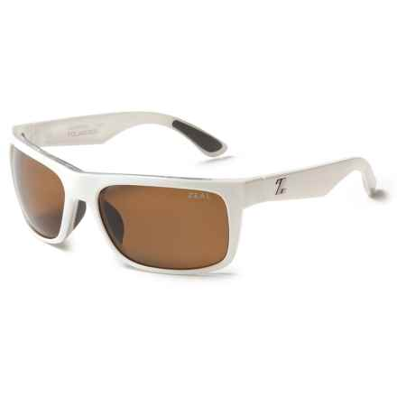 Zeal Essential Sunglasses - Polarized in White Gloss/Copper - Closeouts