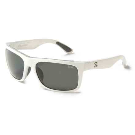 Zeal Essential Sunglasses - Polarized in White Gloss/Dark Grey - Closeouts