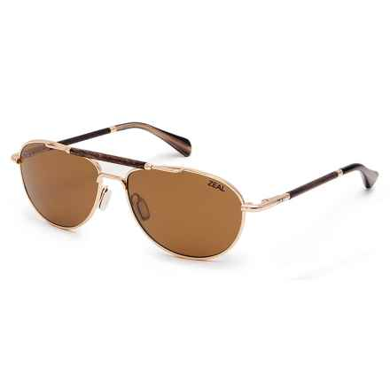 Zeal Fairmont Sunglasses - Polarized Ellume Lenses in Polished Gold/Copper - Closeouts