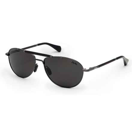 Zeal Fairmont Sunglasses - Polarized Ellume Lenses in Polished Steel/Dark Grey - Closeouts