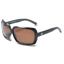 Zeal Felicity Sunglasses - Polarized in Black Plaid/Copper - Closeouts