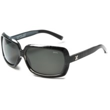 Zeal Felicity Sunglasses - Polarized in Black Plaid/Dark Grey - Closeouts