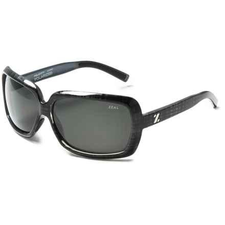 Zeal Felicity Sunglasses - Polarized in Black Plaid/Dark Grey - Closeouts