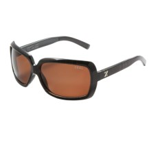 Zeal Felicity Sunglasses - Polarized in Brown Plaid/Copper - Closeouts