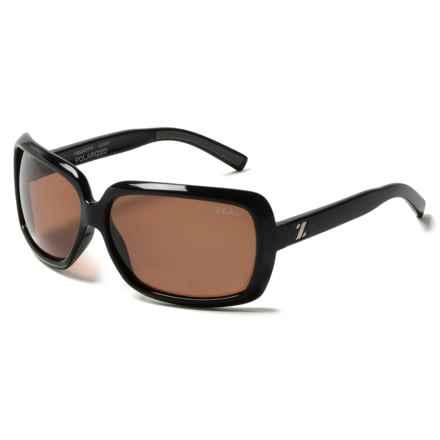 Zeal Felicity Sunglasses - Polarized in Shiny Black - Closeouts