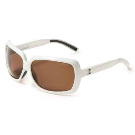 Zeal Felicity Sunglasses - Polarized in Shiny White - Closeouts