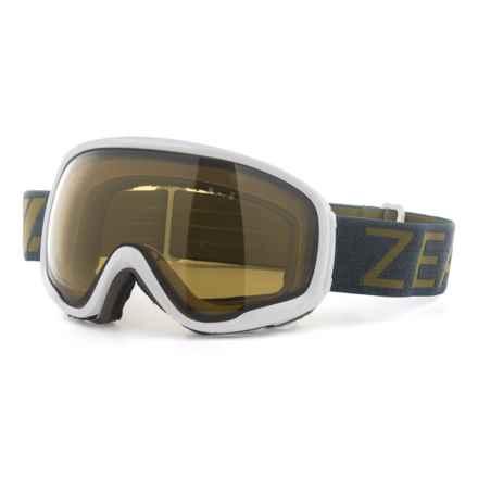 Zeal Forecast Ski Goggles - Polarized in White Smoke/Automatic Plus - Overstock