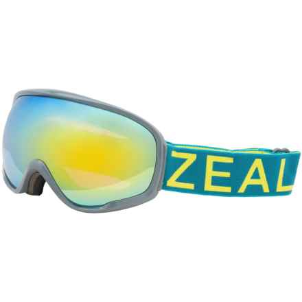 Zeal Forecast Snowsport Goggles in Green Chartreuse/Alchemy Mirror - Overstock