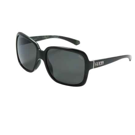 Zeal Hadley Sunglasses - Polarized (For Women) in Black Gloss/Dark Grey - Closeouts