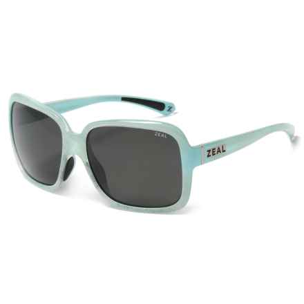 Zeal Hadley Sunglasses - Polarized (For Women) in Sky Blue Gloss - Closeouts