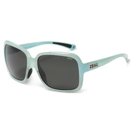 Zeal Hadley Sunglasses - Polarized (For Women) in Sky Blue Gloss