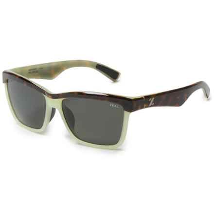 Zeal Kennedy Reflection Sunglasses - Polarized (For Women) in Seafoam Tortoise/Dark Grey - Polarized - Closeouts