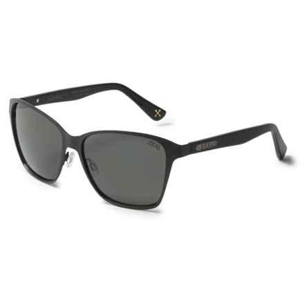 Zeal Laurel Canyon Sunglasses - Polarized in Dark Grey/Matte Black - Overstock