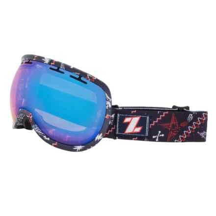 Zeal Level Ski Goggles in Blue Bird Mirror/Henley Blue - Closeouts