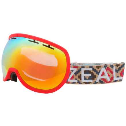 Zeal Level Ski Goggles in Foxfire/Phoenix Mirror - Overstock