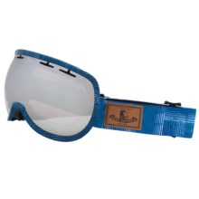 Zeal Level Ski Goggles in Metal Mirror/Made Denim - Closeouts