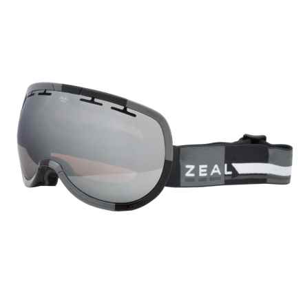 Zeal Level Ski Goggles in Supply Black/Metal Mirror - Closeouts