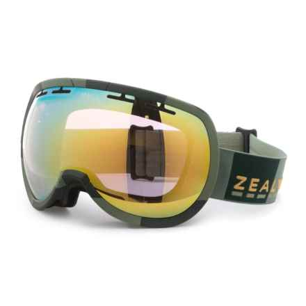 Zeal Level Ski Goggles in Supply Olive/Alchemy Mirror - Overstock