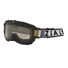 Zeal Link PPX Snowsport Goggles - Polarized, Photochromic in Carbon Matte Black/Light Yellow To Zb Rose Brown - Closeouts