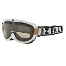 Zeal Link PPX Snowsport Goggles - Polarized, Photochromic in Carbon Matte White/Light Yellow To Zb Rose Brown - Closeouts