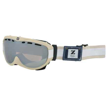 Zeal Link Ski Goggles - Photochromic Lens in Cloud - Closeouts