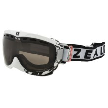 Zeal Link SPX Snowsport Goggles - Polarized in Satin White/Zb Rose Brown - Closeouts