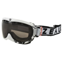 Zeal Link SPX Snowsport Goggles - Polarized in Satin White/Zb Rose Brown