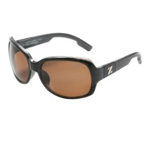 Zeal Penny Lane Sunglasses - Polarized (For Women) in Black Plaid/Copper - Closeouts