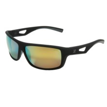 Zeal Range Sunglasses - Polarized, Mirrored Lenses in Black/Gold Mirror - Closeouts