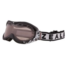 Zeal Rapt Classic OTG Snowsport Goggles - Polarized, Photochromic Lens in Satin Black - Closeouts