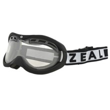 Zeal Rapt OTG PX Snowsport Goggles - Photochromic in Shiny Black/Clear To Zb Rose Brown - Closeouts