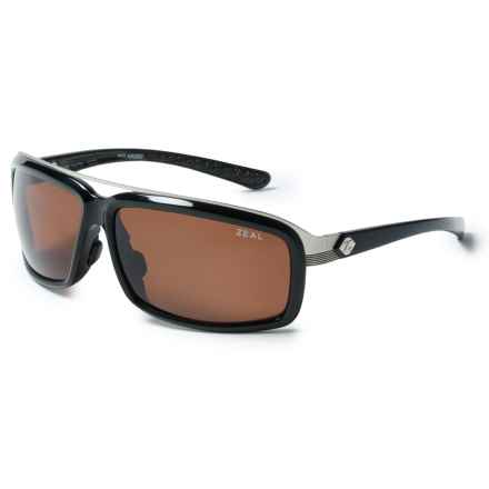 Zeal Re-Entry Sunglasses - Polarized in Black Gloss/Copper - Closeouts