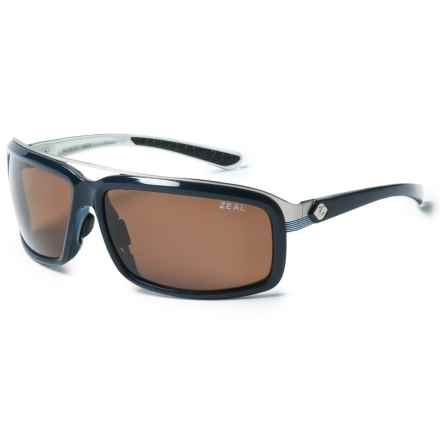 Zeal Re-Entry Sunglasses - Polarized in Dark Blue/White Gloss/Copper - Closeouts